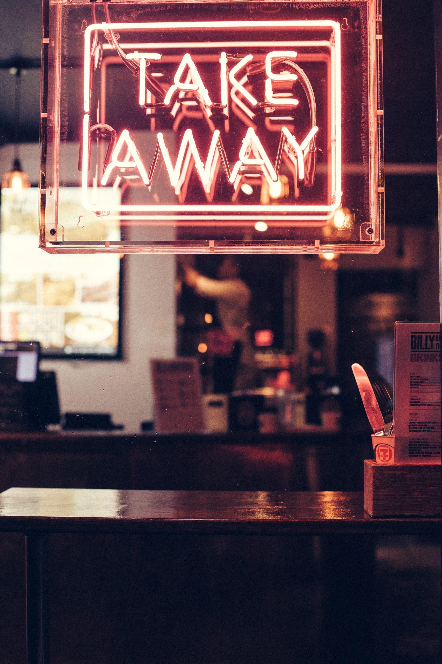 Take Away Sign