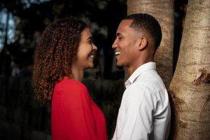 Black man woman couple