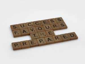 Scrabble tiles success preparation