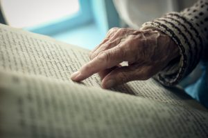 Old womans hand