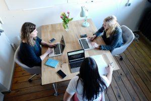 Collaboration around desk