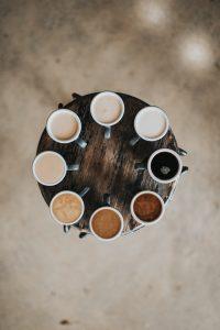 Similar cups of coffee